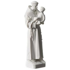 San Antonio de Padua mármol blanco 20 cm