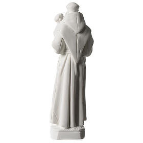 Sant'Antonio da Padova marmo bianco 20 cm s4