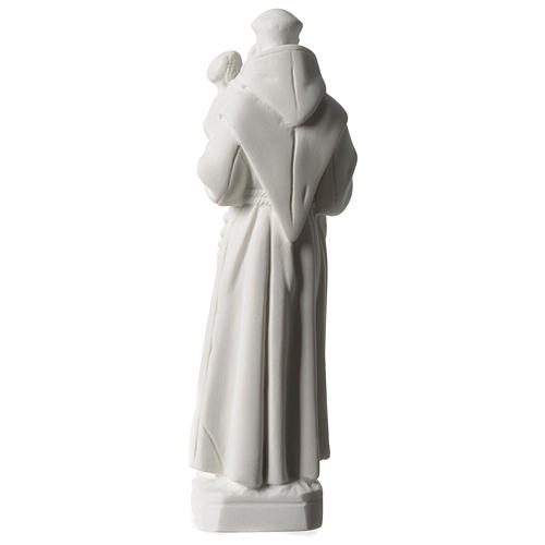 Sant'Antonio da Padova marmo bianco 20 cm 4