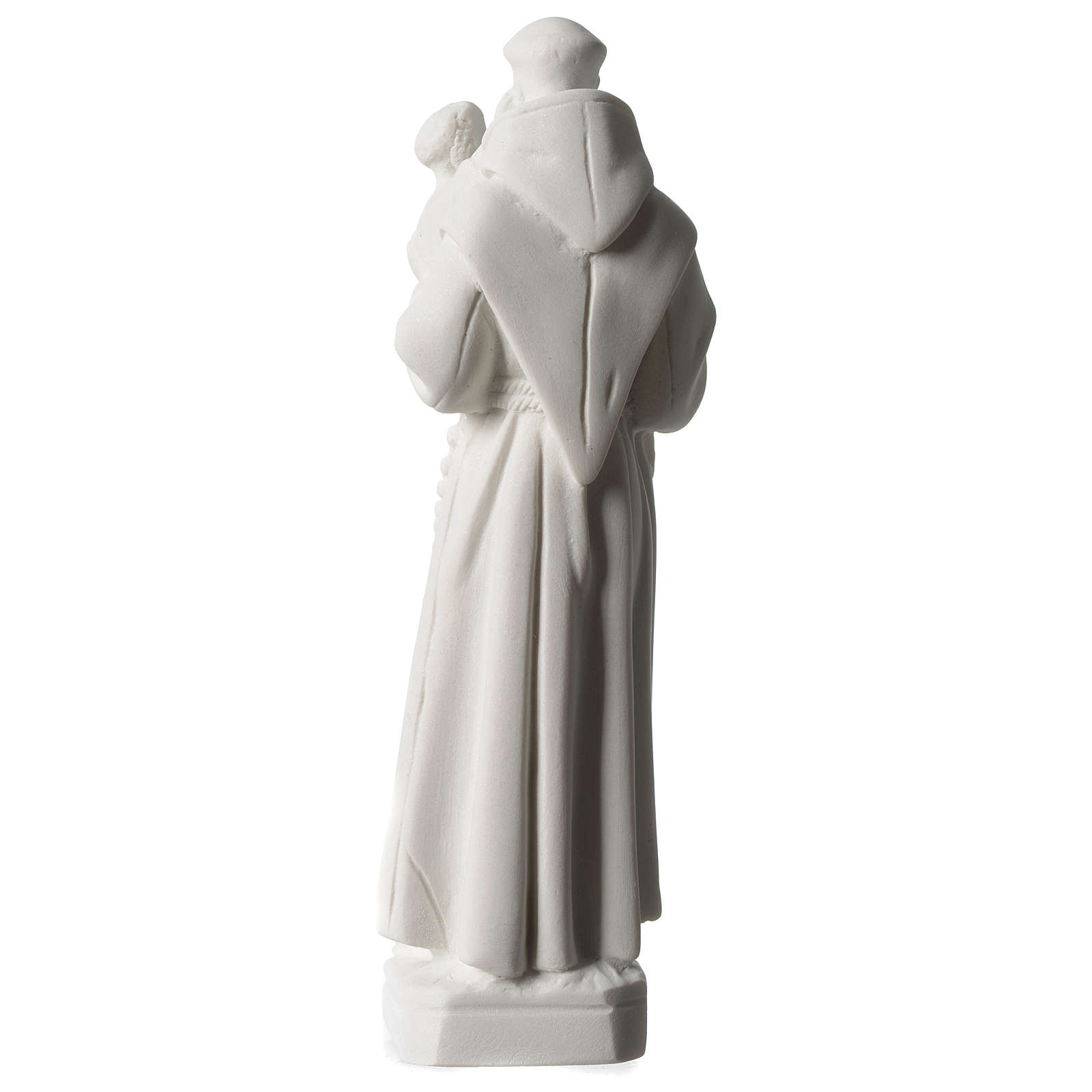 Saint Anthony of Padua in white composite marble statue 8 inc 4