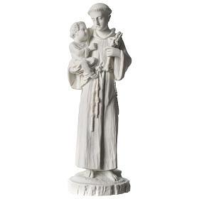Sant'Antonio da Padova marmo bianco 24 cm s1