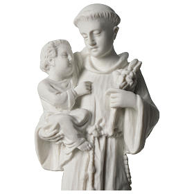 Sant'Antonio da Padova marmo bianco 24 cm s2