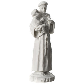 Sant'Antonio da Padova marmo bianco 24 cm s4