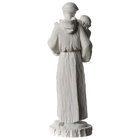 Sant'Antonio da Padova marmo bianco 24 cm s5