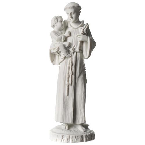 Sant'Antonio da Padova marmo bianco 24 cm 1