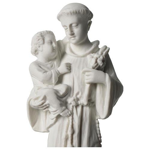 Sant'Antonio da Padova marmo bianco 24 cm 2