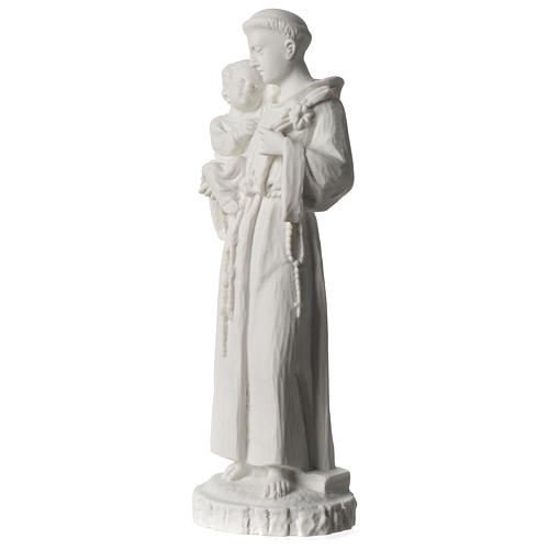 Sant'Antonio da Padova marmo bianco 24 cm 3