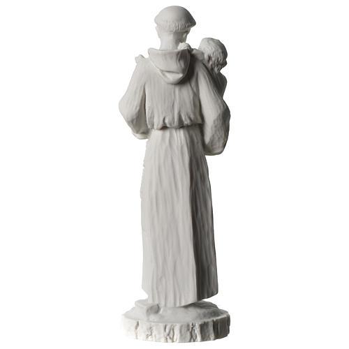 Sant'Antonio da Padova marmo bianco 24 cm 5