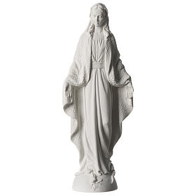 Our Lady of Miracles statue in white marble dust 45 cm s1