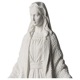 Our Lady of Miracles statue in white marble dust 45 cm s2
