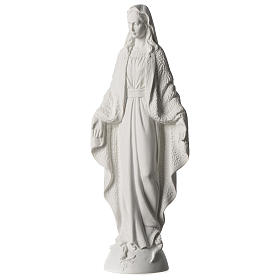Our Lady of Miracles statue in white marble dust 45 cm s3