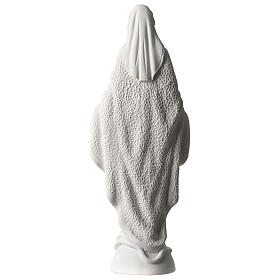 Our Lady of Miracles statue in white marble dust 45 cm s5
