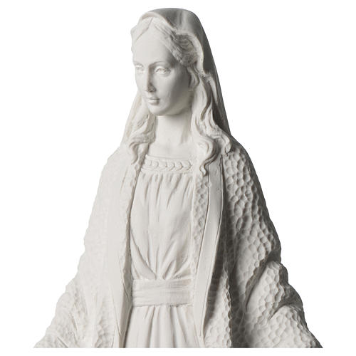 Our Lady of Miracles statue in white marble dust 45 cm 2