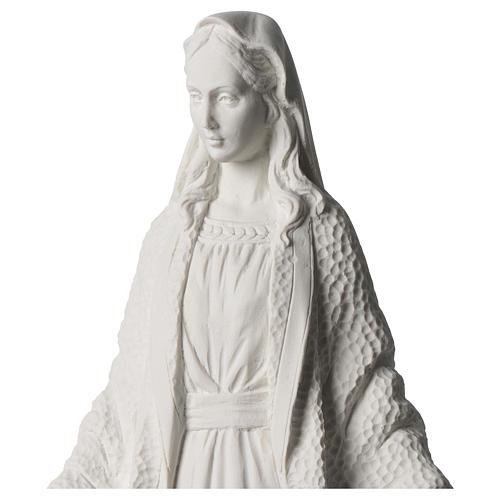 Estatua Virgen Milagrosa polvo de mármol blanco 45 cm 2