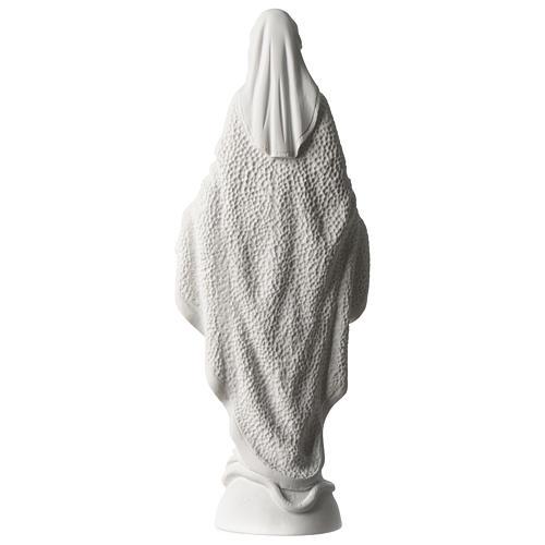 Estatua Virgen Milagrosa polvo de mármol blanco 45 cm 5