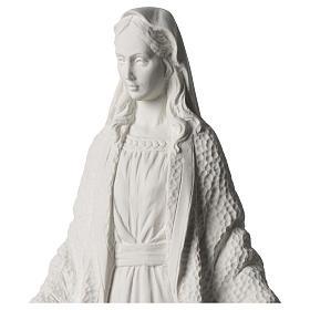 Statua Madonna Miracolosa polvere di marmo bianco 45 cm s2