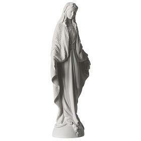 Statua Madonna Miracolosa polvere di marmo bianco 45 cm s4