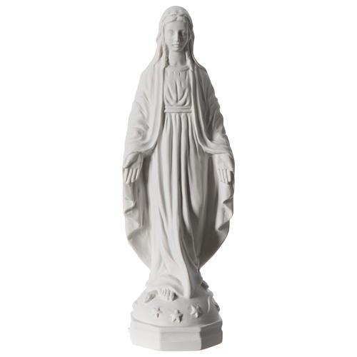 Madonna Miracolosa polvere di marmo bianco Carrara 30 cm 1