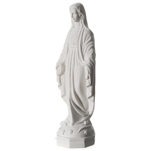 Madonna Miracolosa polvere di marmo bianco Carrara 30 cm 2