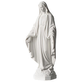 Our Lady of Miracles statue 35 cm in synthetic white Carrara marble dust s3