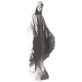 Our Lady of Miracles statue 35 cm in synthetic white Carrara marble dust s4