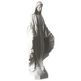 Virgen Milagrosa mármol sintético blanco Carrara 35 cm s4