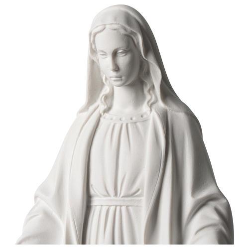 Virgen Milagrosa mármol sintético blanco Carrara 35 cm 2