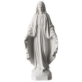Vierge Miraculeuse marbre synthétique blanc Carrare 35 cm s1