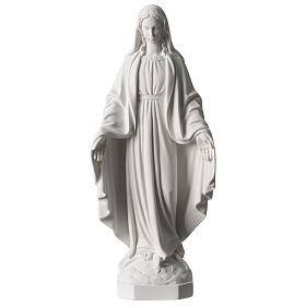 Madonna Miracolosa marmo sintetico bianco Carrara 35 cm s1