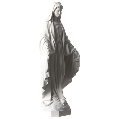 Cudowna Madonna marmur syntetyczny biały Carrara 35 cm 4