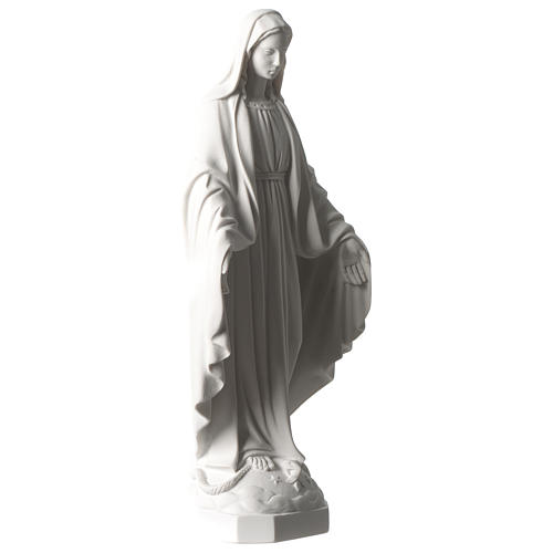 Our Lady of Graces statue in composite white Carrara marble 14