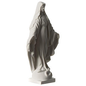 Estatua Virgen Milagrosa de mármol sintético 20 cm s3