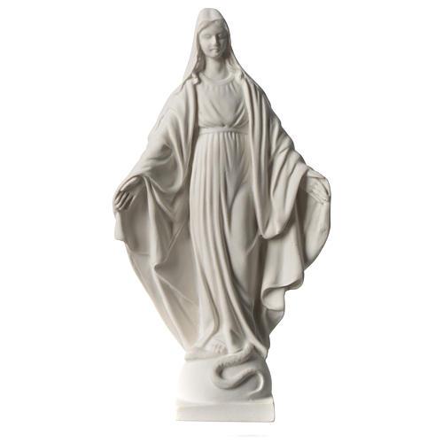Statua Madonna Miracolosa in marmo sintetico 20 cm 1