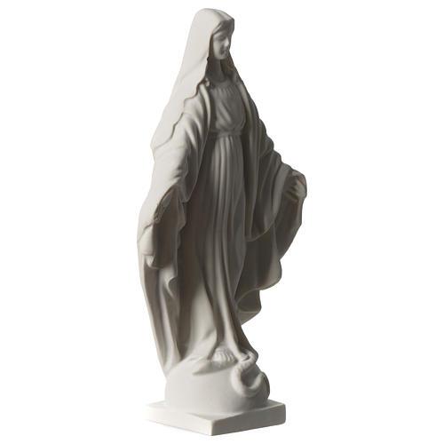 Statua Madonna Miracolosa in marmo sintetico 20 cm 3