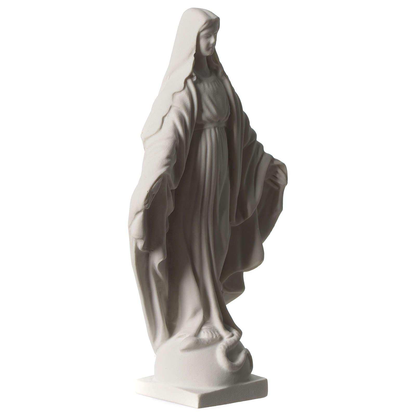 Figurka Cudownej Madonny z marmuru syntetycznego 20 cm 4