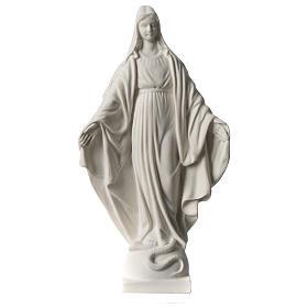 Imagens em Pó de Mármore de Carrara: Imagem Virgem Milagrosa em mármore sintético 20 cm