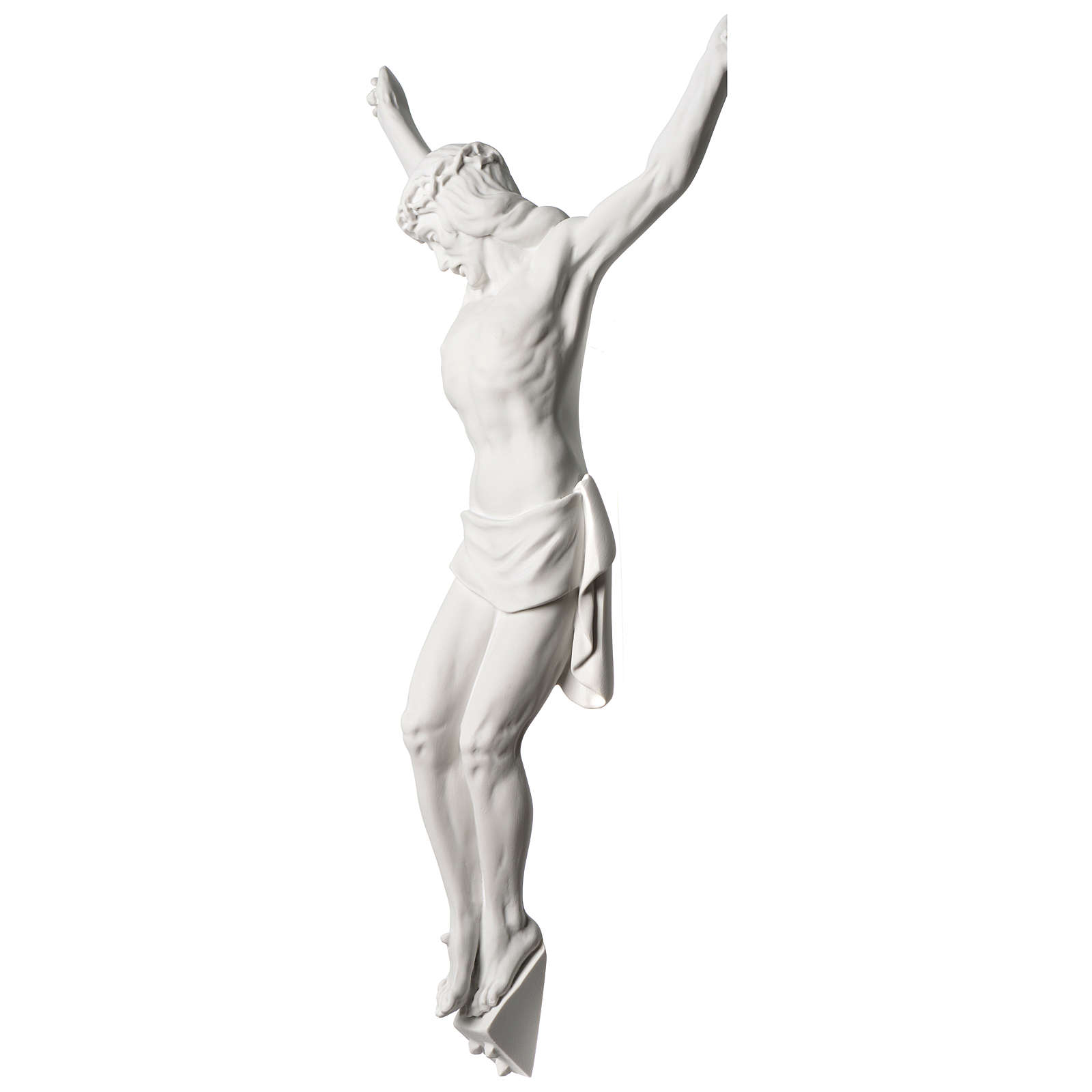Corpus of Christ white composite marble statue 23.5 inches 4