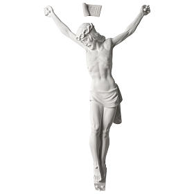 Corpus of Christ white composite marble statue 23.5 inches s1