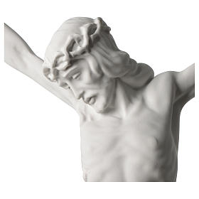 Corpus of Christ white composite marble statue 23.5 inches s2