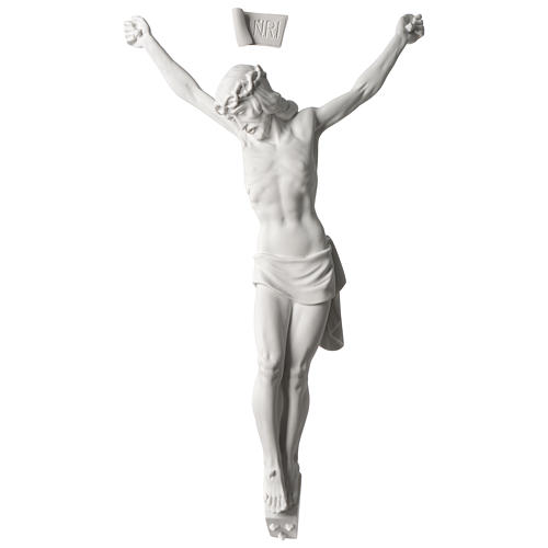 Corpus of Christ white composite marble statue 23.5 inches 1