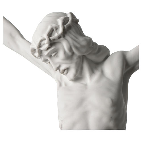 Corpus of Christ white composite marble statue 23.5 inches 2