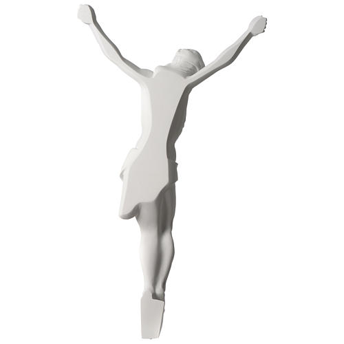 Corpus of Christ white composite marble statue 23.5 inches 5