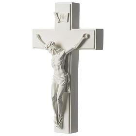Crocifisso in marmo sintetico 60 cm s3