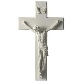 Imagens em Pó de Mármore de Carrara: Crucifixo em mármore sintético 60 cm