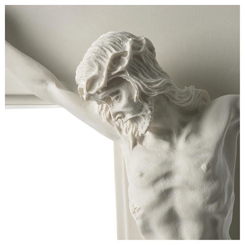 Composite marble crucifix 23.5 inches 2