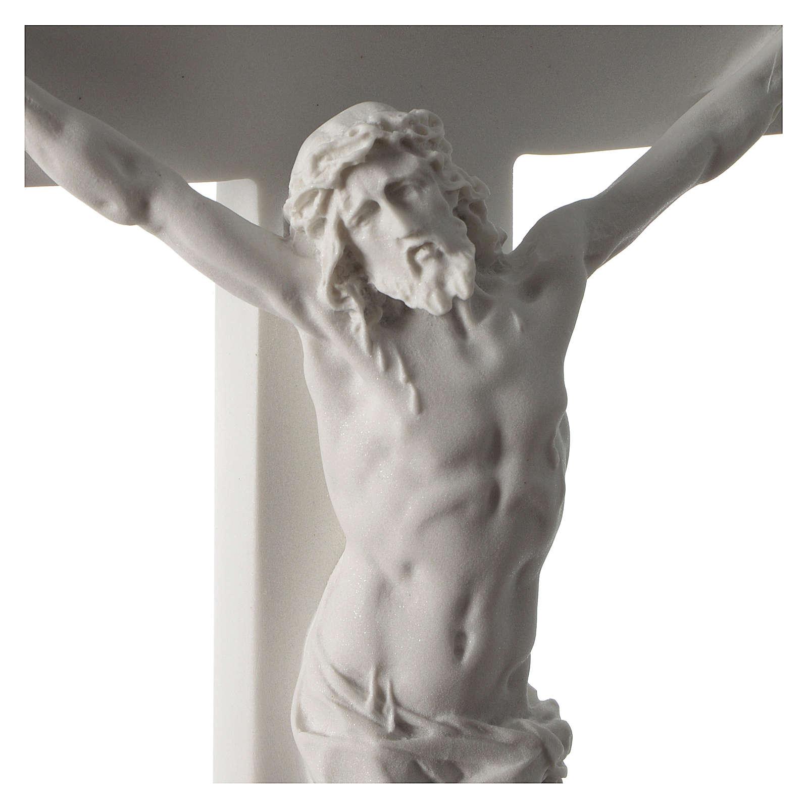 Crocifisso in marmo sintetico 50 cm 4
