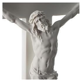 Crocifisso in marmo sintetico 50 cm s2
