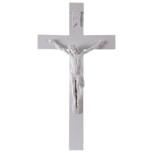 Crocifisso in marmo sintetico 50 cm 1