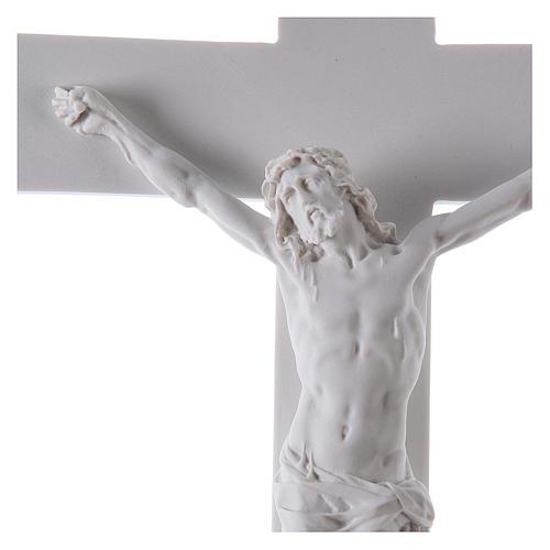 Crocifisso in marmo sintetico 50 cm 3