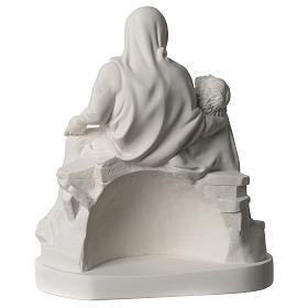 Statua Pietà di Michelangelo marmo sintetico bianco 25 cm s5